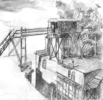 Canal's End at Skytown by Zethelius