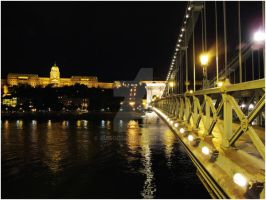 Chain Bridge and Buda Castle by Xuisol