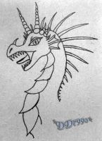 Dragon is Angry -head sketch- by DD7990