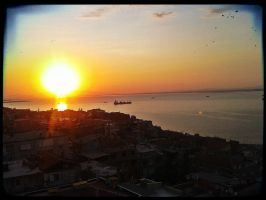 sunset in izmir by barobei