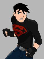 Superboy (Colored) by SharpBluePencils