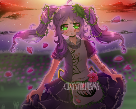 +Art trade+ Bloody sunset by Crystaliiisms