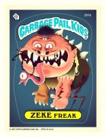 Garbage Pail Kids - ZEKE Freak by TheBeastIsBack