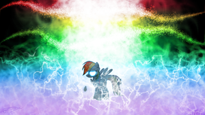 Rainbow Dash - Unleashed Power by Jamey4