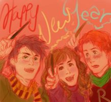 Happy HP Trio New Year by bluestraggler