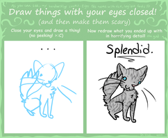 Eyes Closed Meme by SplashKittyArtist