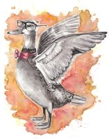 Hipster duck by Paintwick
