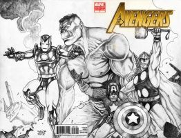 Silver Age Avengers by JASONS21