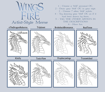 WoF Artist Style Meme 2 Outline by xTheDragonRebornx