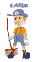 Eario, Janitor of the Mushroom Kingdom by mortimermcmirestinks