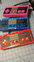 NES Controllers 3,4,5. WY/Loomis Collaboration by WesleyYoung