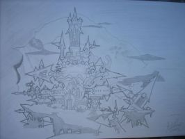 Oblivion Castle Draw by Neves7seven