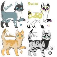 Adoptables:Cheese Cats--CLOSED by SammyslionAdopts