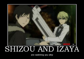 IZAYA AND SHIZOU by DarkNeko-Zepha