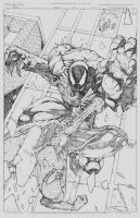 Spidey vs venom commission by joshmedorsart