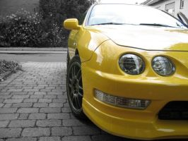 Yellow Acura ITR by lethebikesin