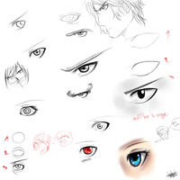 TuTo-How to draw eyes (Inc reference) by GaaraJapanime