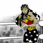 Muay Thai Wonder Woman by voraciousink