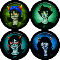 homestuck buttons set 2 by whinge