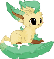 Chibi Leafeon by AppleDew