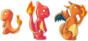 4-6 Charmander Evolutions by AlenaChen