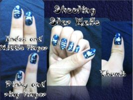 Shooting Star Nails by Toikko
