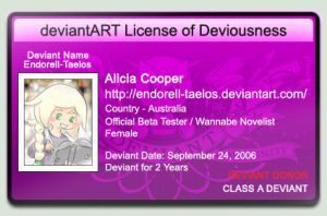 deviantART License of Deviousness ID by Endorell-Taelos