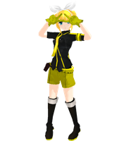 MMD Kagamine Rin Love is war style by replica-luna