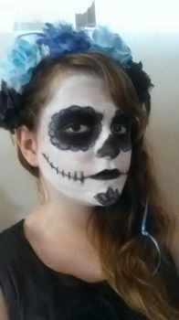 Sugar Skull make up i did for halloween by GlimmeringAngel26