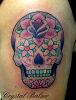 Sugar Skull Tattoo by IAteAllMyPaste