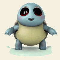 ANIMATED GIF - Squirtle by M0man
