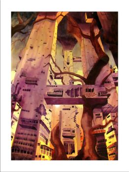 Science Fiction Cityscape No.1 by elynch3
