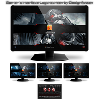 Gamer's Interface Logonscreen-Pack by Designfjotte by Designfjotten