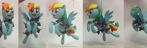Rainbow Dash Ornament by SaturnGrl