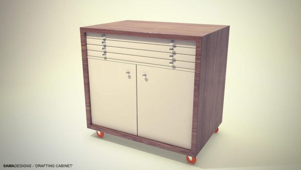 Drafting Cabinet Composite 01 by Sama-mj