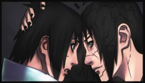 Sasuke and Itachi - Color by ManiacPaint