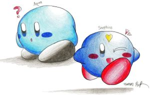 Request: Aqua and Sapphire by crazy4kirby