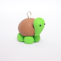 Adorable Polymer Clay Turtle / Tortoise Charm by Linnypig