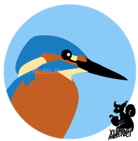 Kingfisher badge by AllerleiArt