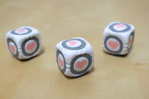 Companion Cube Magnets by lonelysouthpaw
