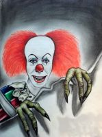 Pennywise the clown by Darkmoonlilly