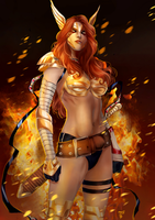 Angela - Asgard's Assassin by Forty-Fathoms