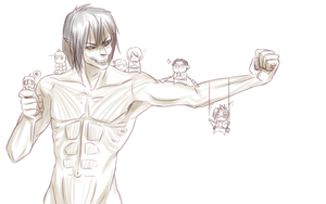 Eren titan and the SOsquad by hyokka