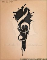 Treble Clef Tattoo by hassified