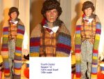 Fourth Doctor Scarf Season 12 by LaSirenOfEire