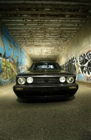 VW Rabbit truck in tunnel 2 by Vidiphoto