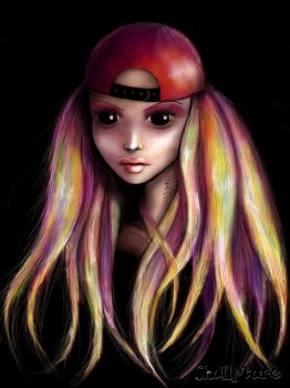 girl with hat by AngeLee-Loo