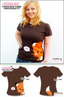 kyaaa.biz Shirt - Fox Brown by shiricki