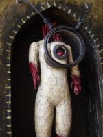 """detail of """"Dismembered"""" by artbikekayakgirl"""
