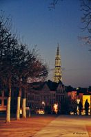 Brussels at night by maybejune